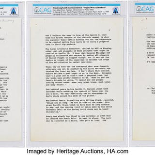 First Words Spoken on the Moon: Neil Armstrong's Personal Copy of