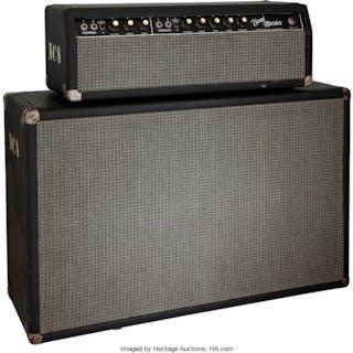 1965 Fender Bandmaster Black Guitar Amplifier, Serial # A14044.... (Total: 2  )