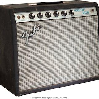 1979 Fender Princeton Reverb Black Guitar Amplifier, Serial # A954481....
