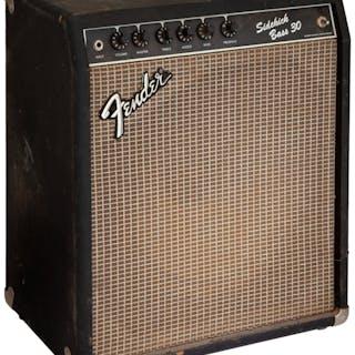 Circa 1990's Fender Sidekick 30 Black Bass Guitar Amplifier, Serial # 4552....