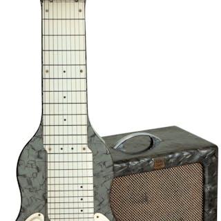 1940's/1950's Alkire Eharp Pearloid Lap Steel Guitar & Magna Electronics