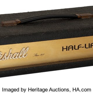 Circa 1990's Marshall Half-Life Black Guitar Amplifier....