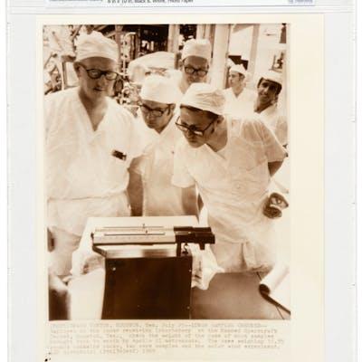 "AP Original Wirephotos: ""Lunar Samples Checked"" July 25, 1969, Directly"