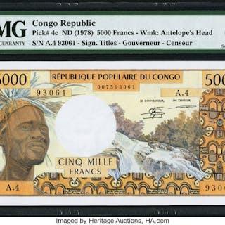Congo Banque des Etats de l'Afrique Centrale 5000 Francs ND (1978)