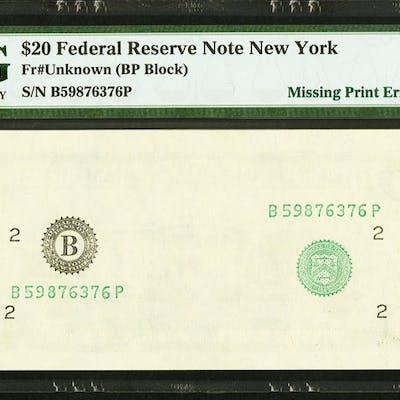 Fr. ?-B $20 ? Federal Reserve Note. PMG Gem Uncirculated 65 EPQ. ...