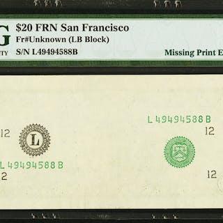 Fr. ? $20 ? Federal Reserve Note. PMG Superb Gem Unc 67 EPQ. ...