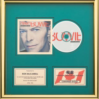 David Bowie Black Tie White Noise Canadian Gold Award (BMG, 1993).  ...