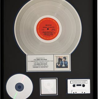 Bob Dylan Highway 61 Revisited RIAA Hologram Platinum Sales Award