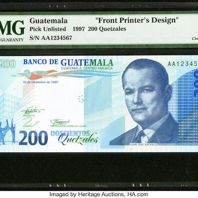 Guatemala Banco de Guatemala 200 Quetzales 10.12.1997 Pick Unlisted