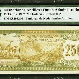 Netherlands Antilles Bank van de Nederlandse Antillen 250 Gulden 28.8.1967