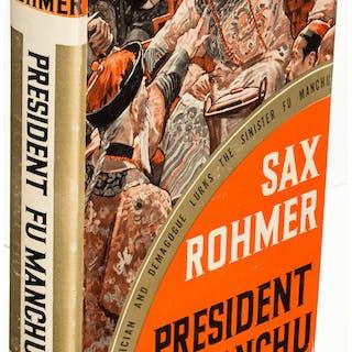 Sax Rohmer. Group of Three Fu Manchu Books. Garden City: 1936-1948.