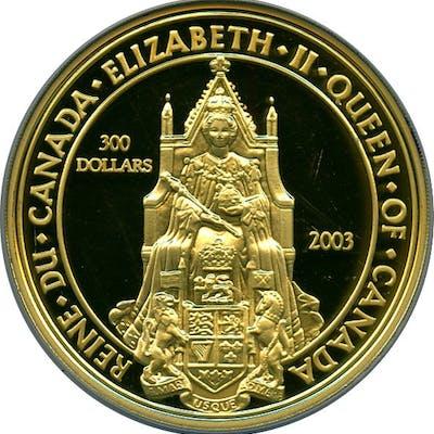 "Elizabeth II gold Proof ""Great Seal of Canada"" 300 Dollars 2003 PR68"