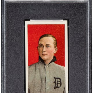 1909-11 T206 Old Mill Ty Cobb (Red Portrait) PSA EX-MT 6.