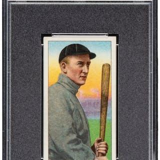 1909-11 T206 Piedmont Ty Cobb 350-460/42 (Bat Off Shoulder) PSA NM 7.