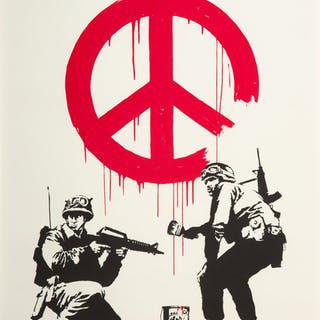 Banksy (British, b. 1974) CND Soldiers, 2005 Screenprint in colors