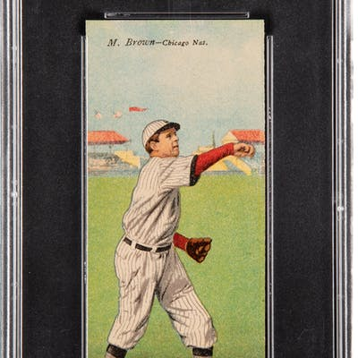 1911 T201 Mecca Double Folder M.Brown/A.Hofman PSA NM-MT 8 - Only One Higher.