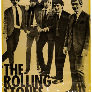 The Rolling Stones 1964 Promotional Poster from Spain. ...