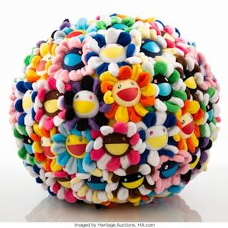 Takashi Murakami (Japanese, b. 1962) Flower Ball, 2008 Plush 15 x