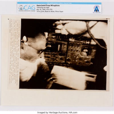 """AP Original Wirephotos: """"Checking the Mail"""" July 18, 1969, Directly"""