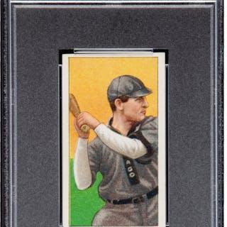 1909-11 T206 Sovereign Frank Chance (Batting) PSA EX-MT 6 - Highest