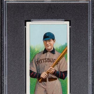 1909-11 T206 Sovereign Fred Clarke (Pittsburgh, Holding Bat) PSA EX-MT 6.
