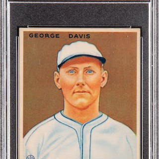1933 Goudey George Davis #236 PSA NM-MT 8 - Only Two Higher.