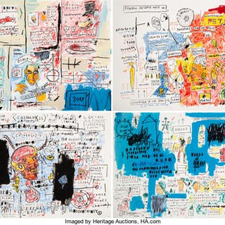 After Jean-Michel Basquiat  Ascent, Leeches, Liberty, and Olympic