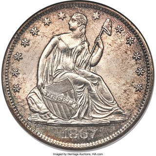1867-S 50C, WB-103, MS