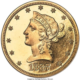 1887 $10, CA