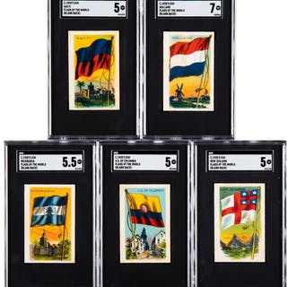 C. 1930's V251 Canadian Chewing Gum Flags of All Nations Collection
