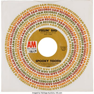 "Vinyl: ""Feelin' Bad / I've Got Enough Heartaches"" 45 RPM Record by"