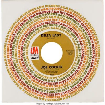 "Vinyl: ""Delta Lady / She's So Good To Me"" 45 RPM Record by Joe Cocker"