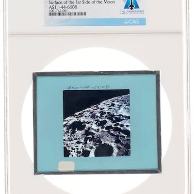Apollo 11 Original NASA Glass Film Slide, an Image of Surface of the