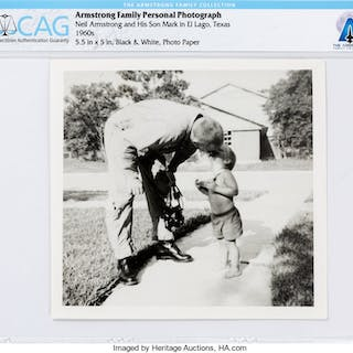 Armstrong Family Personal: Neil and Mark Armstrong Photograph Directly