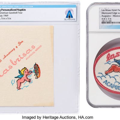 Neil Armstrong Las Brisas Personalized Napkin and Hotel Patch Directly