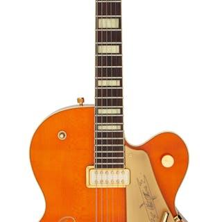 2007 Gretsch G6120-CGP Orange Semi-Hollow Body Electric Guitar, Serial