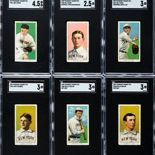 1909-11 T206 White Border New York Americans Collection (21).