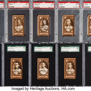 1912 C46 Imperial Tobacco Baseball Graded Partial Set (60/90).