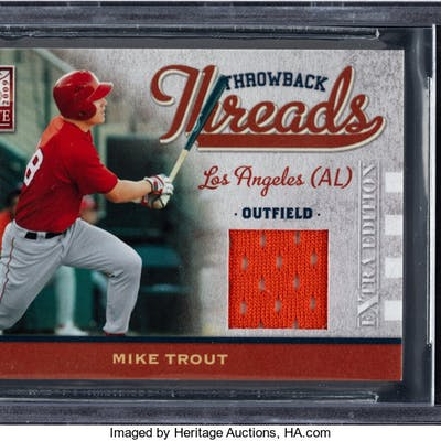 uk availability 1c4c2 8cd7c 2009 Donruss Elite Extra Edition Mike Trout Throwback ...