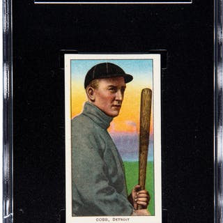 1909-11 T206 Sweet Caporal-Factory 42 OP Ty Cobb (Bat Off Shoulder)