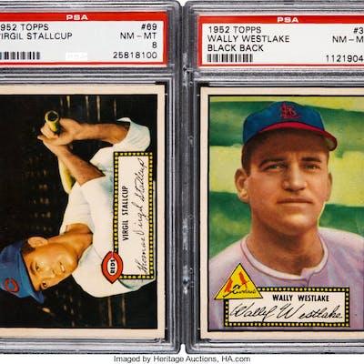 1952 Topps Baseball Psa Nm Mt 8 Graded Pair 2 Barnebys
