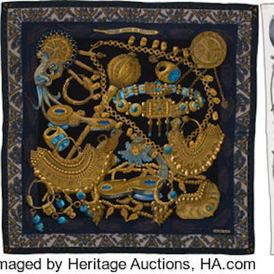 """Hermès Set of Three: Scarves Condition: 2 55"""" Width x 55"""" Height ..."""