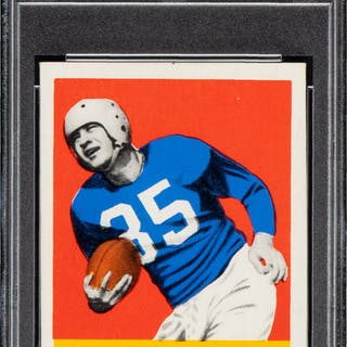 1948 Leaf Bill Dudley #36 PSA NM-MT 8 - Only Two Higher.