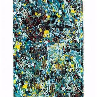 After Jackson Pollock X Medicom Toy Skate Deck, 2015 Digital print