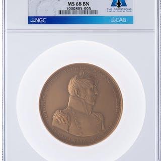Medals: Undated Master Commander Oliver H. Perry Bronze Medal, MS68