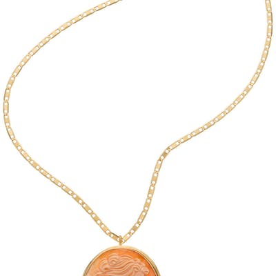 Janet Armstrong's 18K Gold Cameo Necklace Directly From The Armstrong