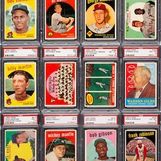1959 Topps Baseball High Grade Complete Set (572).