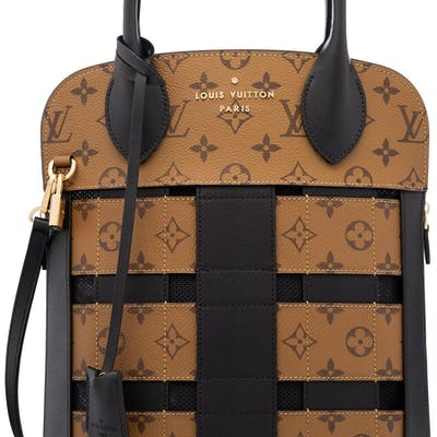 Louis Vuitton Reverse Monogram Coated Canvas MM Tressage Bag with