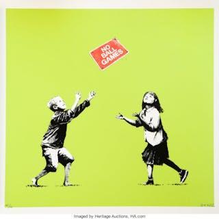 Banksy (British, b. 1974) No Ball Games, 2009 Silkscreen in colors