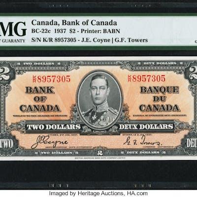Canada Bank of Canada $2 2.1.1937 BC-22c PMG Gem Uncirculated 66 EPQ. ...